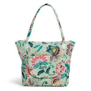 Carson North South Tote in Mint Flowers Print NWT